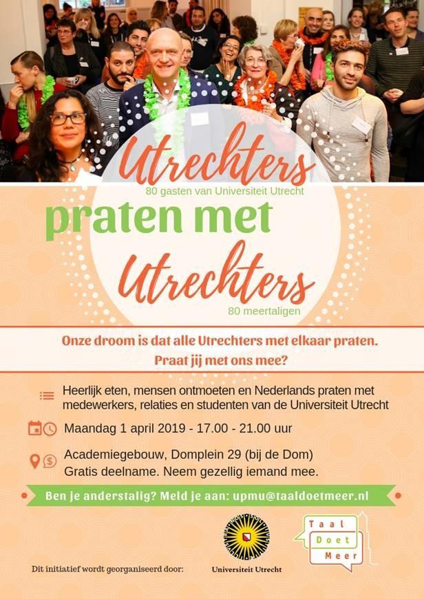 Utrechters praten met Utrechters - voor deelnemers van Eigen Kracht