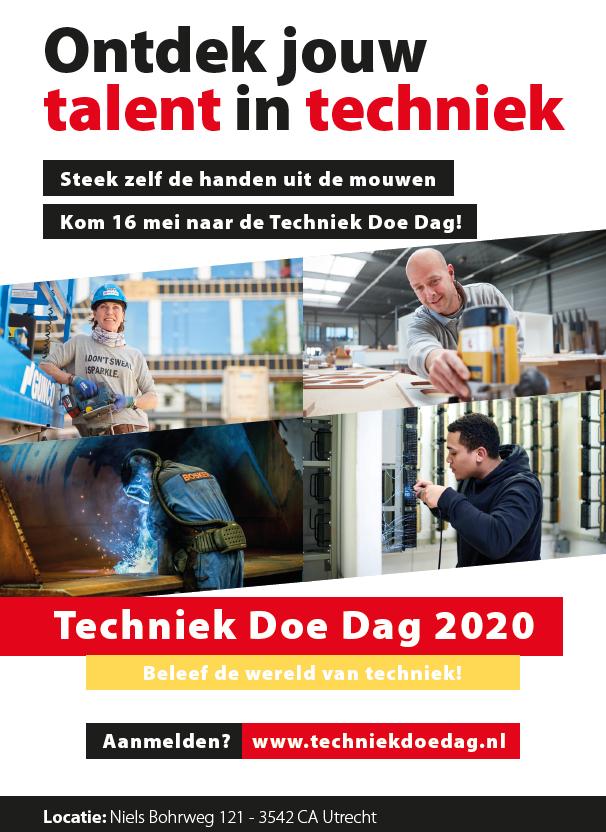 Techniek Doe Dag zaterdag 16 mei 2020
